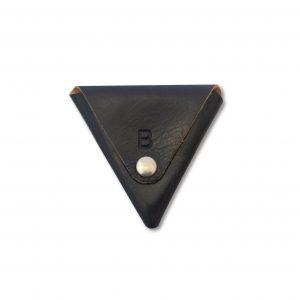 TRIANGULAR COIN PURSE BLACK
