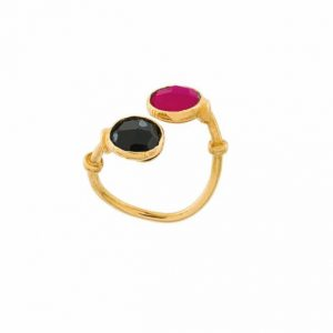 DUALITY SERTI RING GOLD PLATED