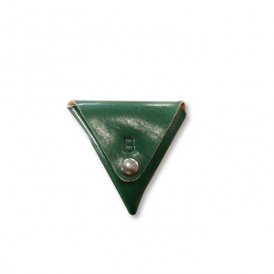 TRIANGULAR COIN PURSE GREEN