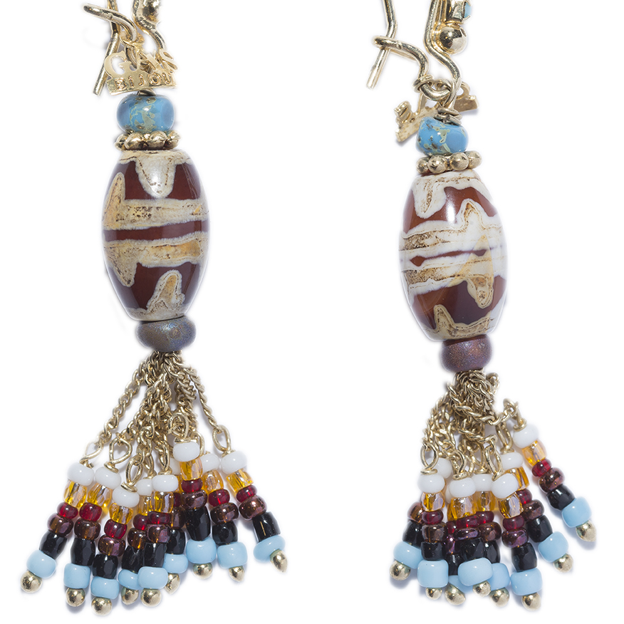 AICONE TURQUOISE GOLD EARRINGS