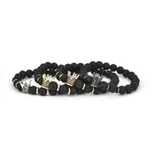 VOLCANIC CROWN BRACELET BLACK