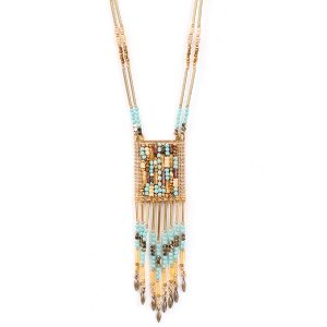 COLETTE TOURQUISE LONG NECKLACE