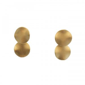 BRONZE DOUBLE ROUND EARRINGS