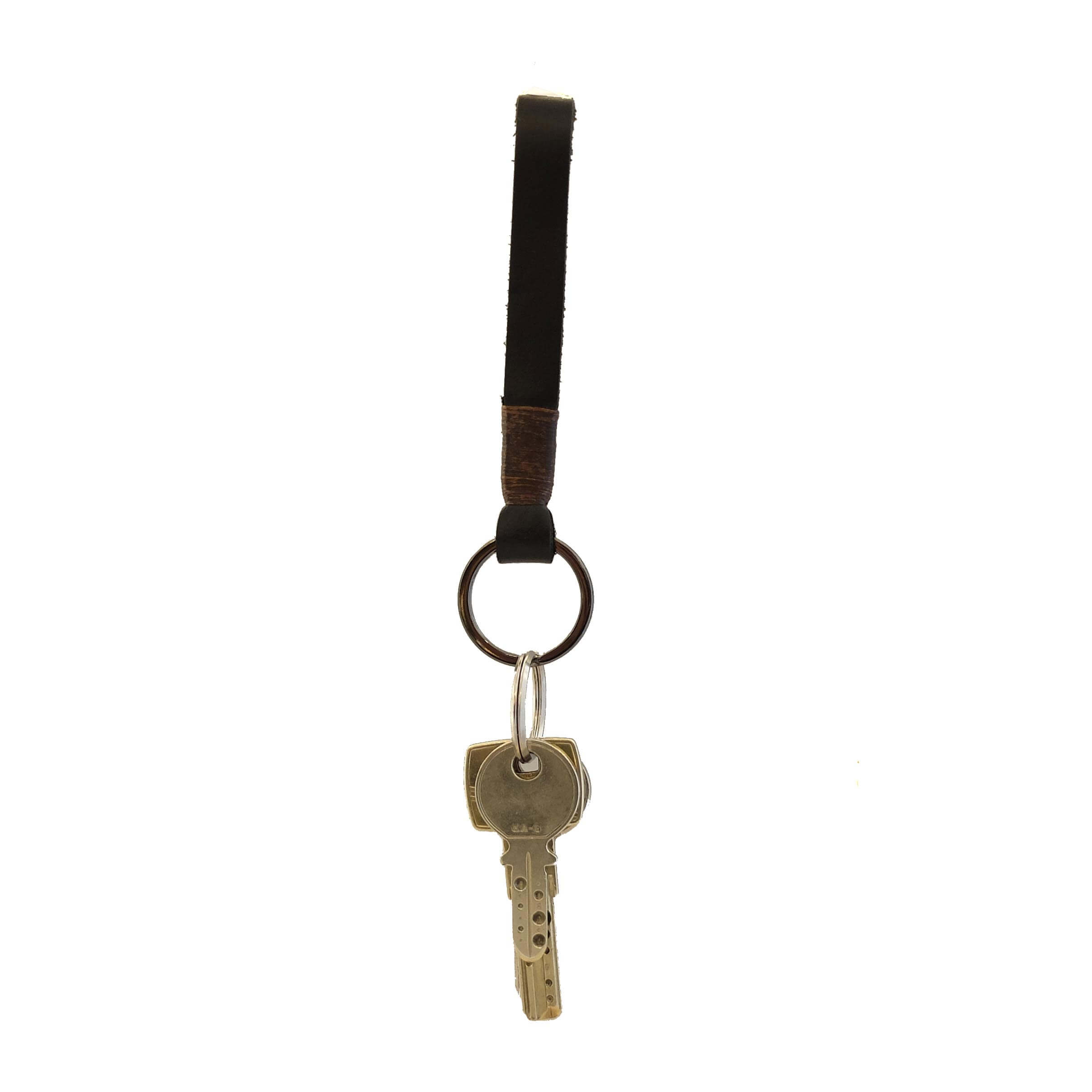 LEATHER KEYCHAIN BLACK