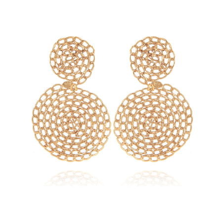 ONDE GOURMETTE EARRINGS GOLD PLATED