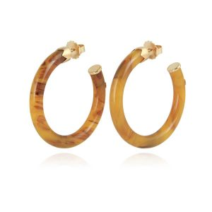 CAFTAN EARRINGS ACETATE BEIGE