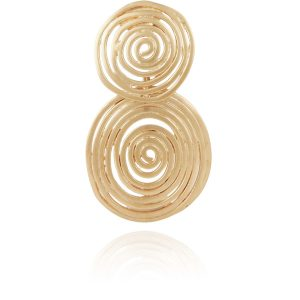 WAVE EARRINGS SMALL GOLD PLATED