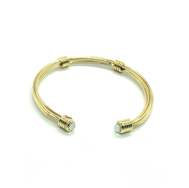 ARIANE CABOCHONS GOLD PLATED BRACELET