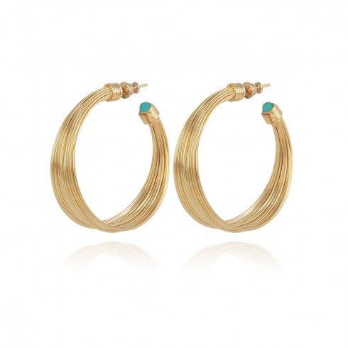 ARPA HOOP EARRINGS GOLD PLATED