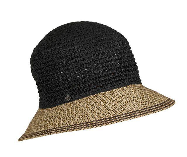 BLACK NATURAL PAPER CROCHET HAT