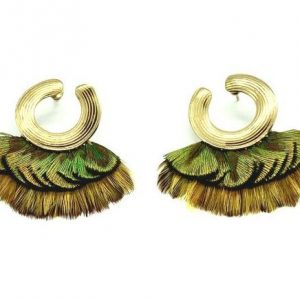 POSITANO FEATHER EARRINGS