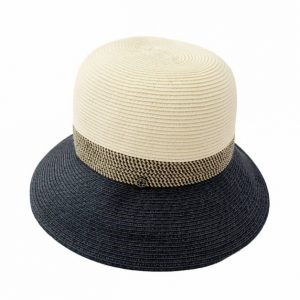 NAVY NATURAL PAPER HAT