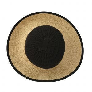 NATURAL BLACK STRAW HAT