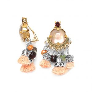 MYLENE 3 POMPOMS FRENCH EARRINGS