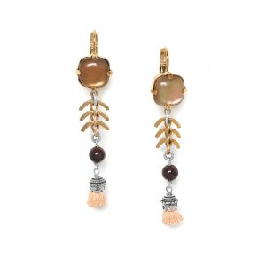 MYLENE LONG HOOK EARRINGS