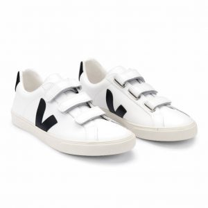 3 LOCK LEATHER WHITE BLACK SNEAKERS