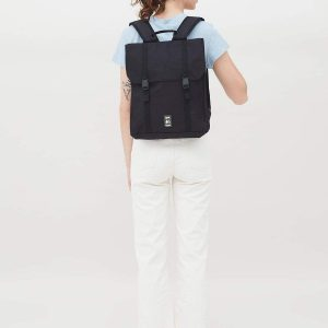 HANDY BLACK VEGAN BACKPACK