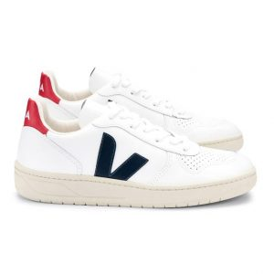 V-10 LEATHER WHITE NAUTICO PEKIN