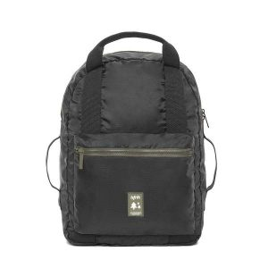 POCKET BLACK VEGAN BACKPACK