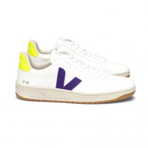 V-12 WHITE PURPLE JAUNE FLUO