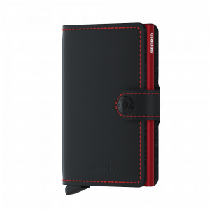 MINIWALLET MATTE BLACK AND RED