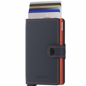 MINIWALLET MATTE BLUE & ORANGE