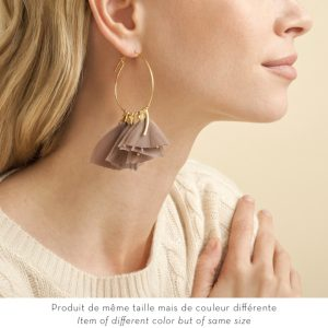 AMARLY PINK GOLD PLATED EARRINGS