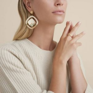 AURA ACETATE GOLD PLATED EARRINGS