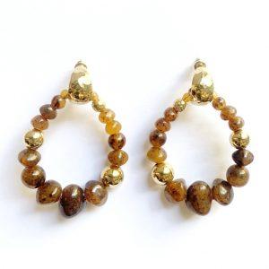TORTOISE BIBA GOLD PLATED EARRINGS