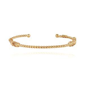 JONC TORSADE SMALL GOLD  BRACELET